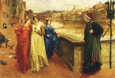 """""""Dante y Beatriz"""", Henry Holiday, 1884"""