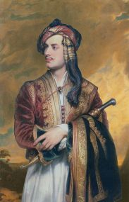 """Retrato de Lord Byron"", Thomas Phillips, 1819"